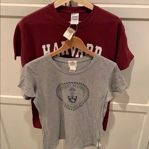 Bundle of 2 Varsity T-Shirts Harvard & UofT